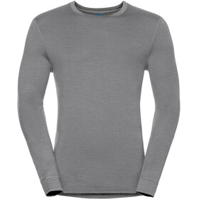 Odlo Natural 100% Merino Warm Crew Neck LS Shirt Men grey melange-black